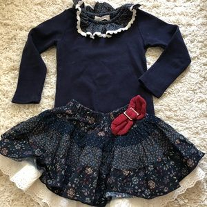 Other - Toddler girls' top and skirt Set